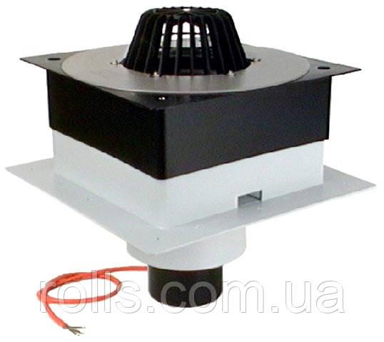 HL63.1P/1 Покрівельна воронка для профнастилу DrainBox DN110 з ПВХ-консоллю, з електропідігрівом