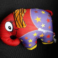 Мягкая игрушка-антистресс Слон оранжевый.