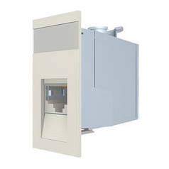Розеточный модуль Molex Euromod 1xRJ45 M1 Straight 568B FTP PC 5e White