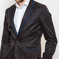 Мужской пиджак приталенный синий, коричневый, серый, черный