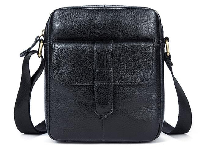 Кожаная мужская сумка на плечо M7717A Черный - Torba Super в Харькове 5bfd5144ac714