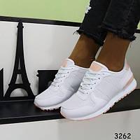 Женские кроссовки белые и пудра 3262 и 3262-1