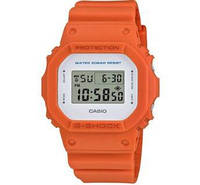 Мужские часы CASIO G-SHOCK Digital Square Orange DW-5600M-4