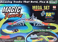 Детская гибкая дорога Magic Tracks 360 деталей, 2 машинки, мост, перекресток, фото 1