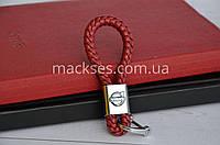 Брелок кожаный Mackses Volvo Бордовый
