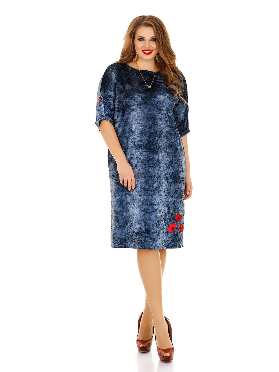 Платье из миненого велюра под джинс Индивидуальный пошив
