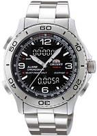 Мужские часы ORIENT Analog Digital Aerospace Chronograph CVZ00001B