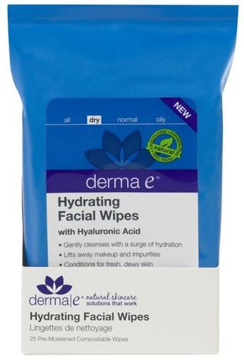 Влажные салфетки для лица с гиалуроновой кислотой *Derma E (США)*