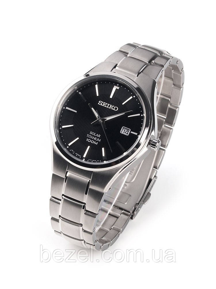 Мужские часы Seiko SNE377P1 Sapphire SOLAR