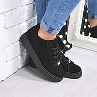 Кроссовки криперы Perms черные , женская обувь