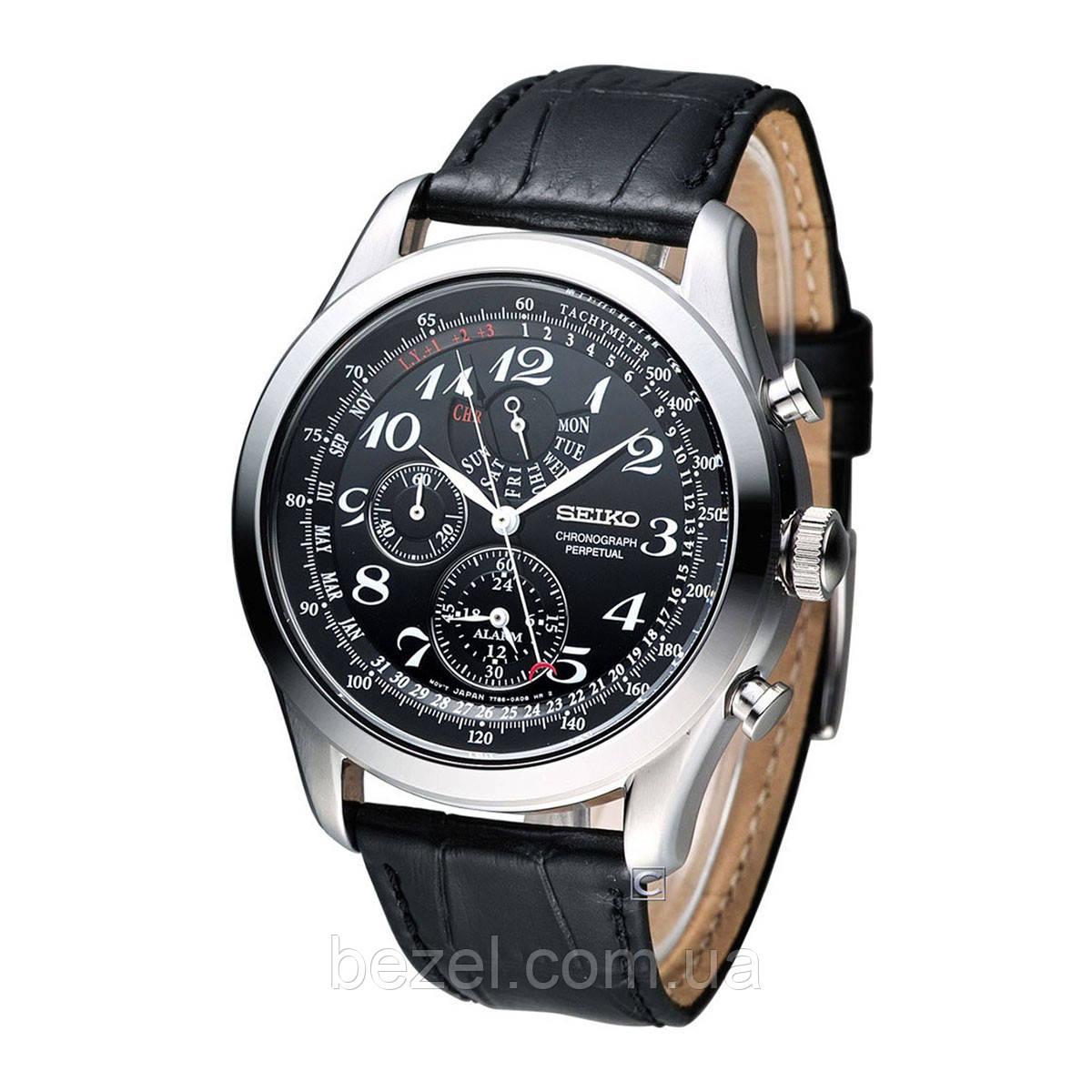 Мужские часы Seiko SPC133P1 хронограф Quartz 7T86