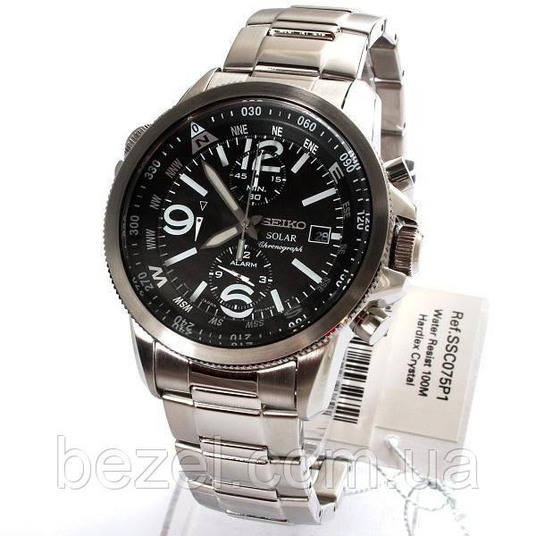 Чоловічі годинники Seiko SSC075P1 хронограф SOLAR