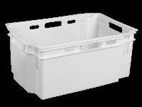 Ящики пластиковые для фруктов 600 x 400 x 270 Белый, Первичный