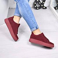 Кроссовки криперы Perms бордо , женская обувь