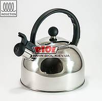 Чайник 2л из нержавеющей стали со свистком Empire EM-9535