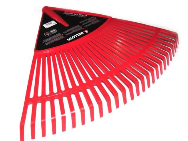 Грабли веерные 620 мм пластиковые мм без держака