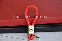 Брелок кожаный Mackses Volkswagen Красный