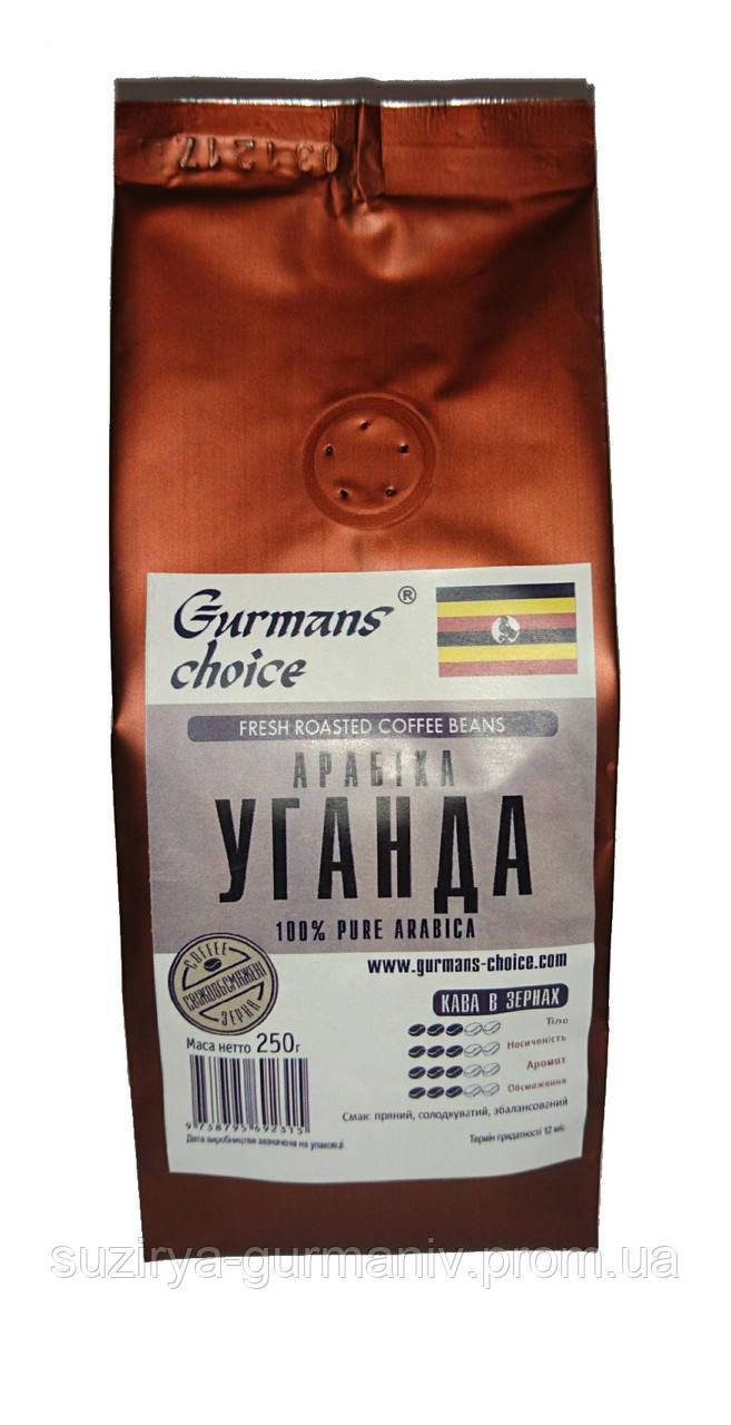 Кофе в зернах Gurmans Choice Уганда 100 % арабика 250 г, фото 1