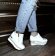 Кроссовки на платформе!Cникерсы! Кроссовки белые весна 2018