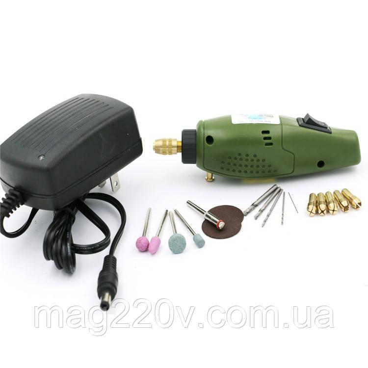 Электрическая мини дрель с набором насадок