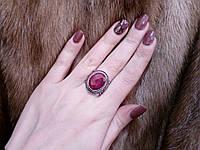 Красивое кольцо рубин. Кольцо с рубином. Размер 19. Индия!, фото 1