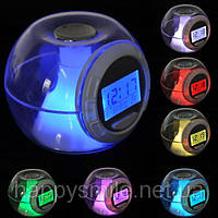 Часы c подсветкой Changing Light Alarm Clock