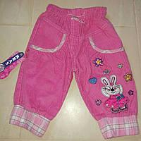 Брюки капри штаны вельвет для девочки на рост 80 86 см