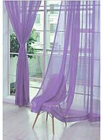 Тюль шифон однотонный фиолетовый производства Турция