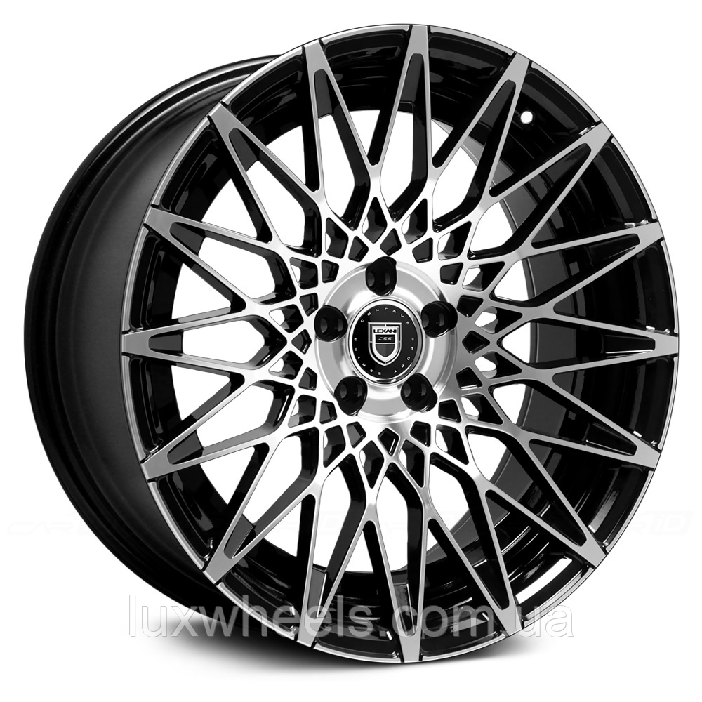 LEXANI CSS-16 Gloss Black with Machined Face