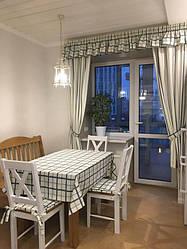 Современные шторы для кухни в стиле Прованс, ткань Comersan