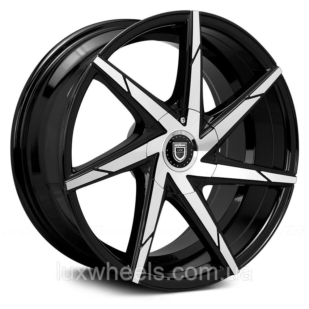 LEXANI CSS-7 Gloss Black with Machined Face and Covered Lugs