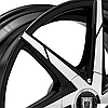 LEXANI CSS-7 Gloss Black with Machined Face and Covered Lugs, фото 2