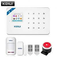 Комплект GSM Wi-Fi сигнализации KERUI W18 Android iOS русскоязычная