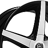 LEXANI R-FOUR Gloss Black with Machined Face and Covered Lugs, фото 2