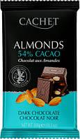 Шоколад Cachet черный с миндалем 54% какао 300г