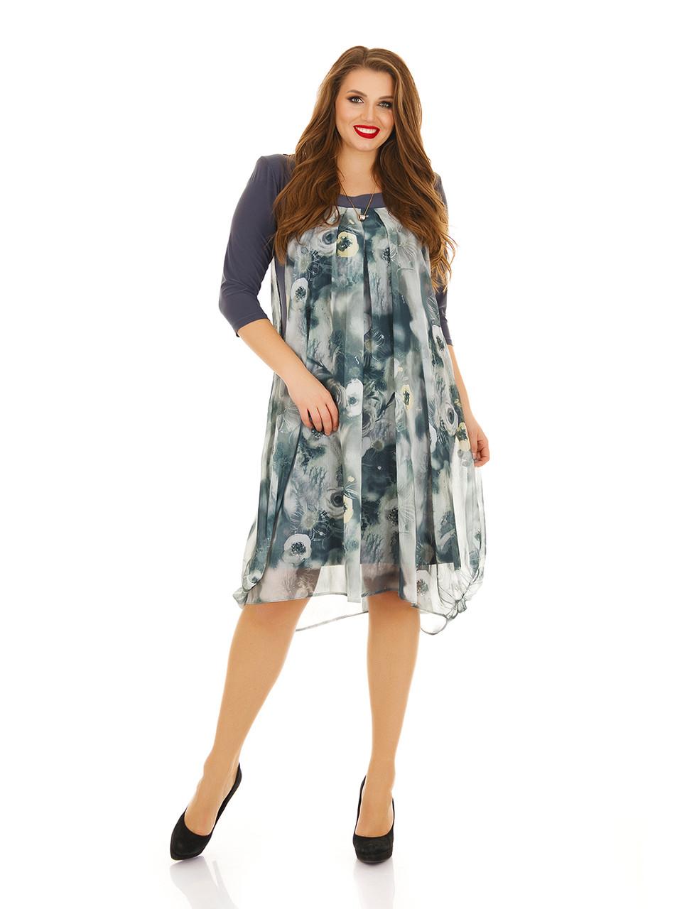 299d277c886 Платье двойное масло трикотаж и шифон Индивидуальный пошив - Интернет  магазин