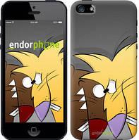 """Чехол на iPhone 5s Злюки бобри """"2999c-21-8545"""""""