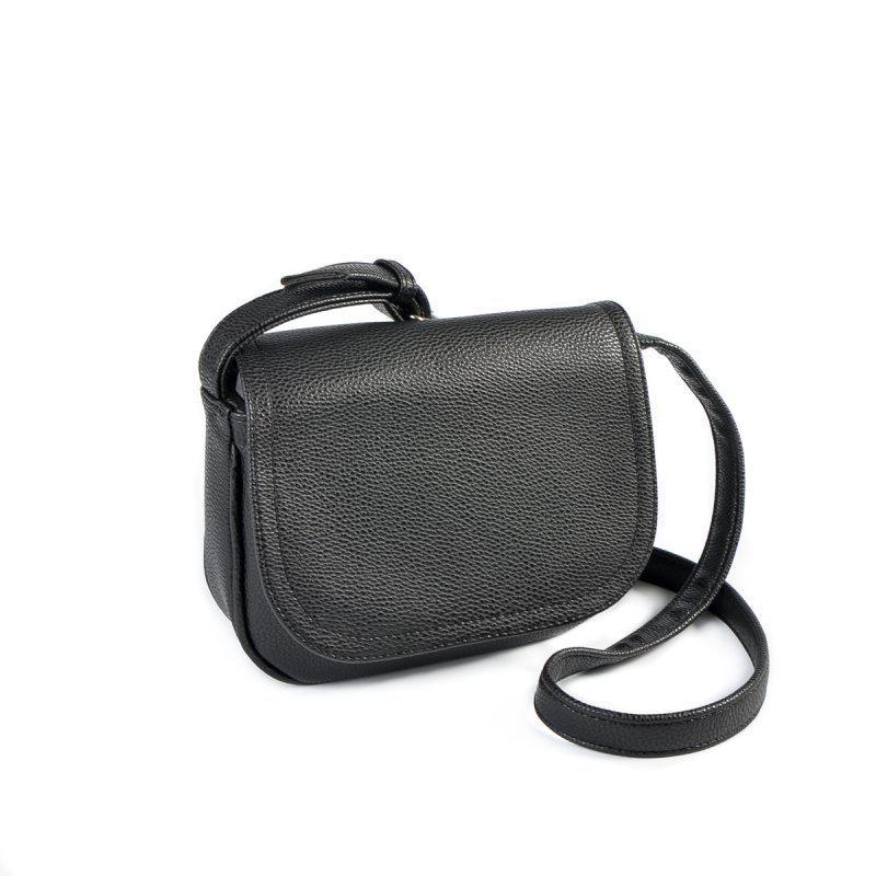 384213ee1ebd Маленькая молодежная сумка черная через плечо кроссбоди матовая - Интернет  магазин сумок SUMKOFF - женские и