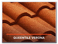 Композитная металлочерепица QueenTile Verona теракот