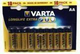 Батарейка AA 10шт Varta LongLife Extra 04106101461