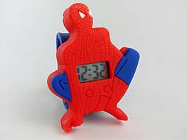 Часы наручные, Цвет синий, красный, Браслет синий, Цифровой дисплей, Spider Man.