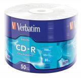 Диски cd-r 700mb Verbatim 50 шт. в целлофане   (43787)