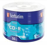 Диски cd-r 700mb Verbatim 50 шт. в целлофане   (43787)