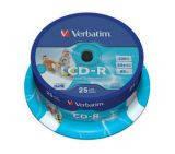 Диски cd-r Verbatim 700Mb шпиндель 25шт. Printable (43439)
