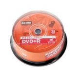 Диски DVD+R Acme 4.7Gb 16x шпиндель 25шт Printable (4770070854402)