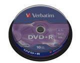 Диски DVD+R 4.7GB Verbatim 43498 10 шт. шпиндель