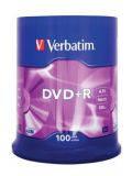 Диски DVD+R 4.7GB Verbatim 43551 100 шт. шпиндель