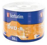 Диски DVD-R 4.7GB Verbatim Azo 16X 50шт.в целлофане  (43788)