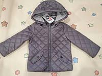 Курточка для мальчика в сером цвете