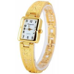 Chaoyada модное дамы Кварцевые цепи часы с сталь ремешок прямоугольник Циферблат - Золотой